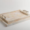 Atlantis Tray Cream - Silver Bamboo