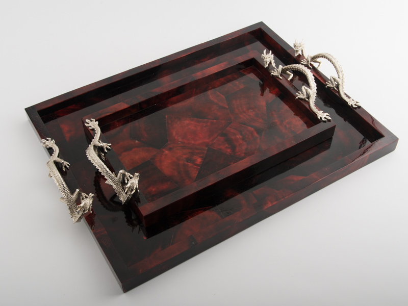 Atlantis Red Tray - Dragon