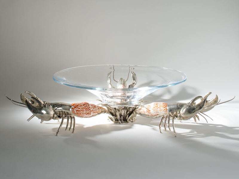 Lobster Trio Bowl with Mitre Shells