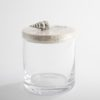 .Glass Jar with Spindle Shell Lid