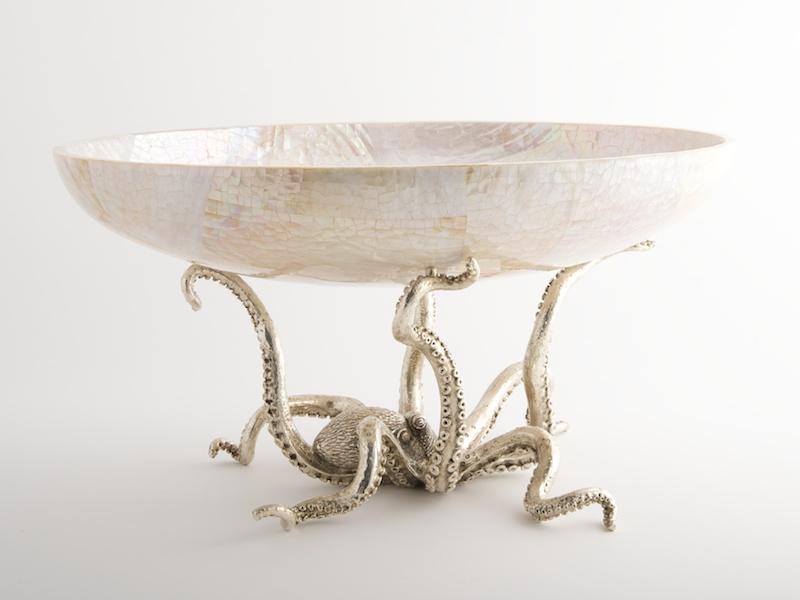 Octopussy Large Oval Bowl   Cream