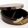 Dragonfly Box - Oval - Brown