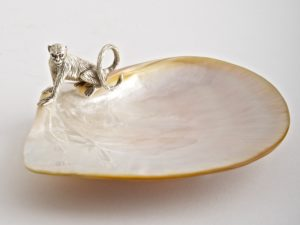 Monkey Mother of Pearl Plate
