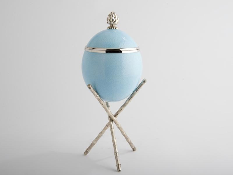 Ostrich Egg - Artichoke - Blue
