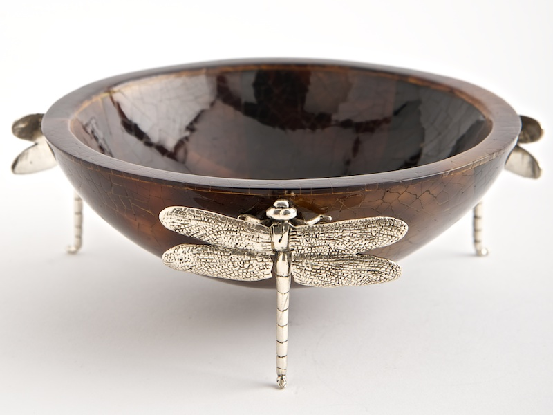 Dragonfly Small Bowl Brown