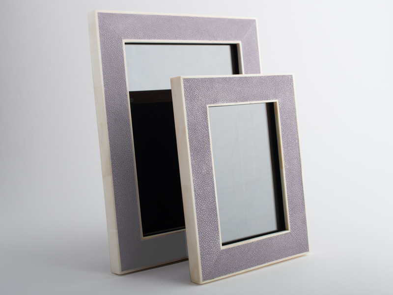 Hepburn Shagreen Photo Frame Lavender