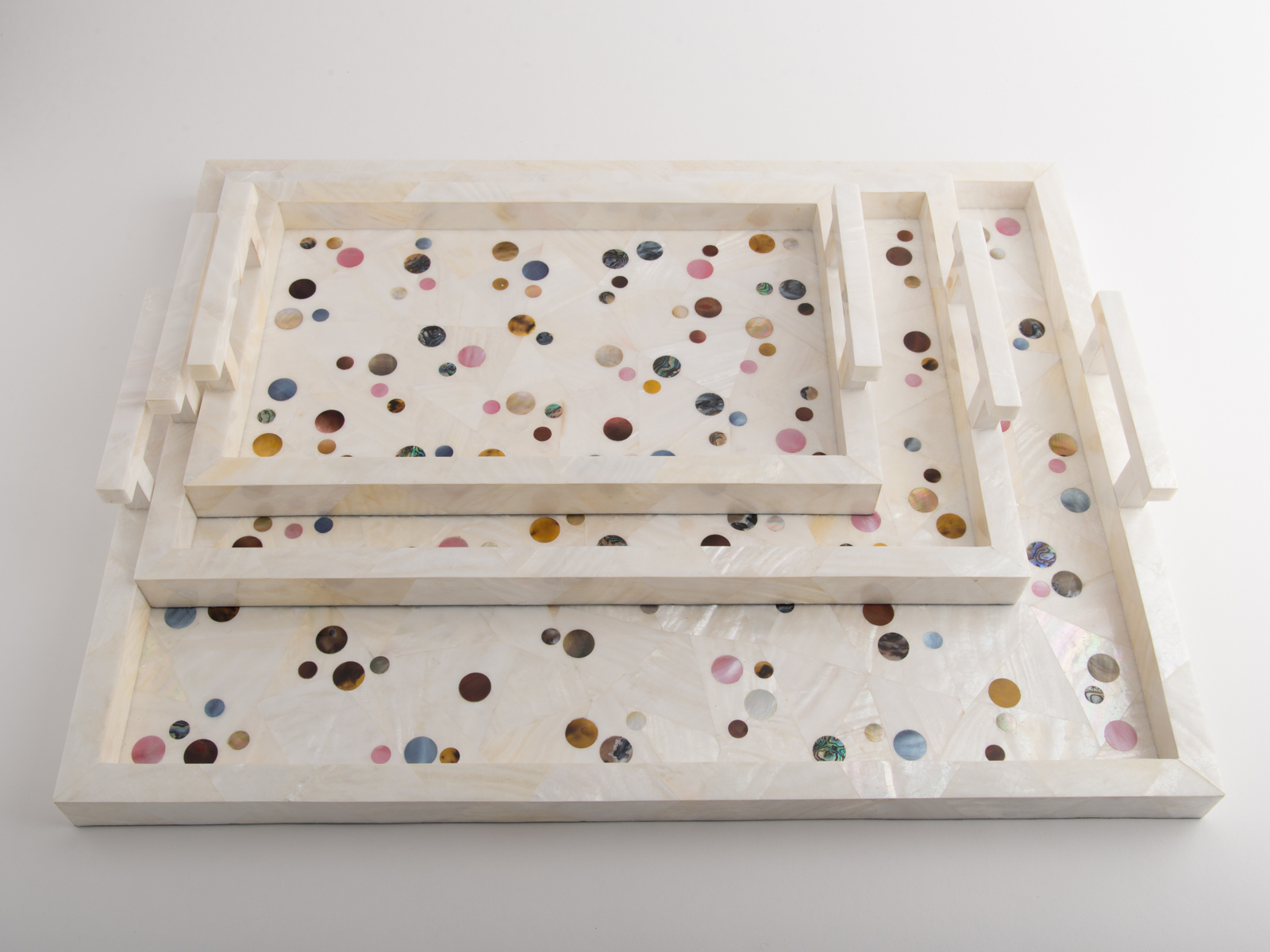 Polka Tray Shell Cream