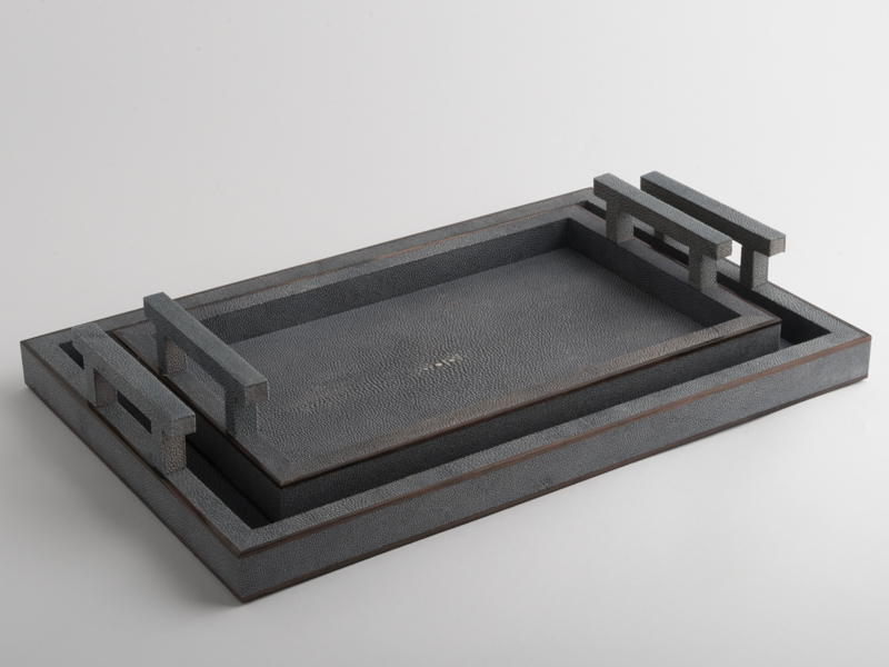 Mylne Rectangular Shagreen Tray