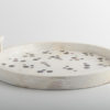 Polka Round Tray Shell Cream