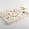 Polka Small Narrow Tray - Shell - Cream