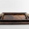 Atlantis Tray Brown - Gold Bamboo