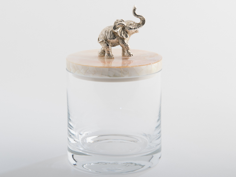 .Glass Jar with Elephant