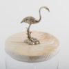 .Glass Jar with Flamingo