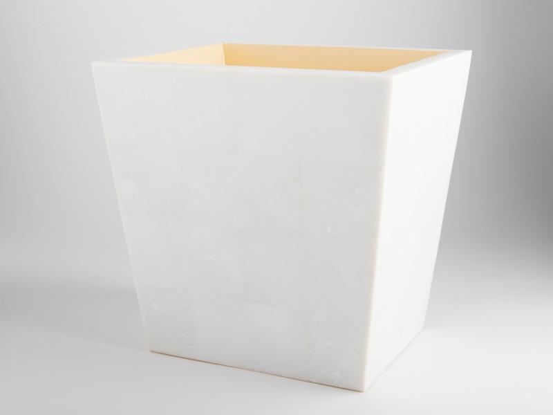 Amalfi Waste Basket - White Marble