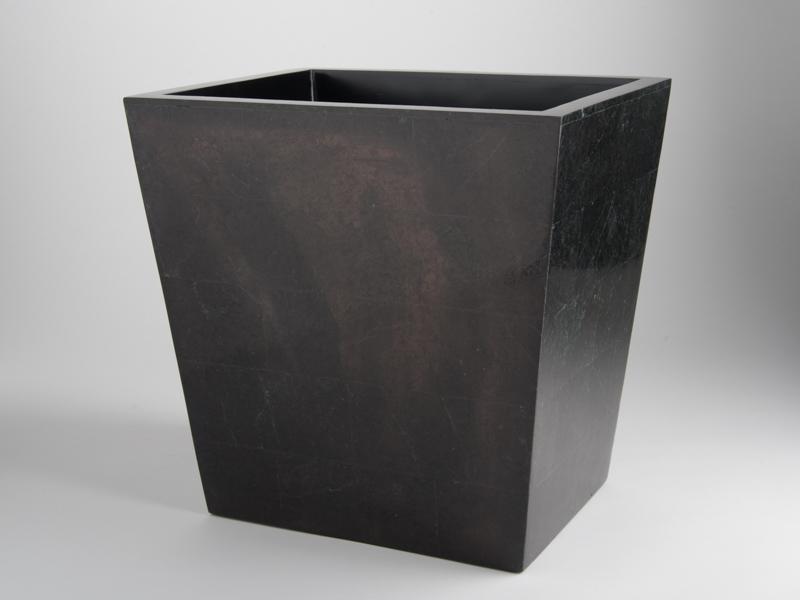 Amalfi Waste Basket - Black Marble