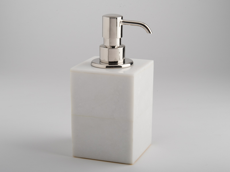 Amalfi Soap Dispenser - White Marble
