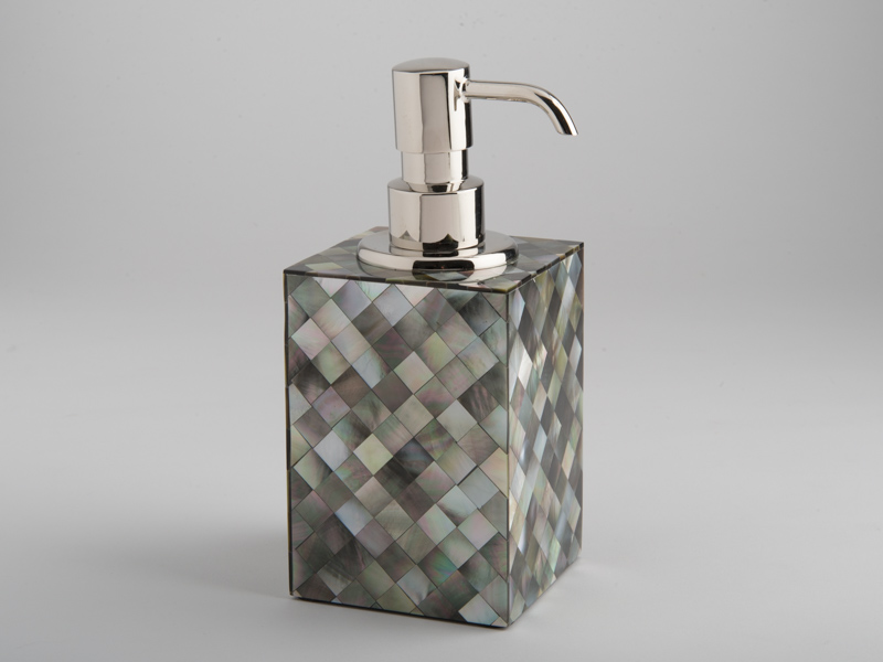 Florence Soap Dispenser - Black Mother of Pearl