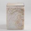 Sienna Tall Square Box - Cream