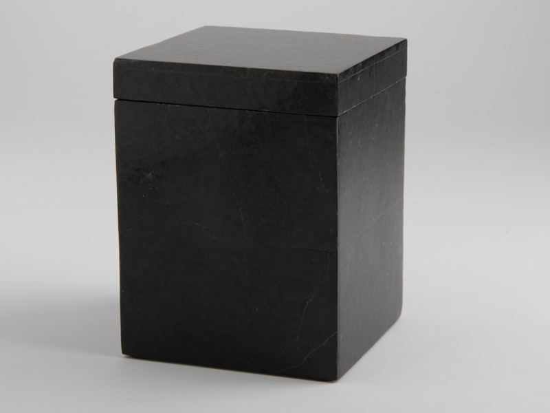 Amalfi Tall Square Box - Black Marble