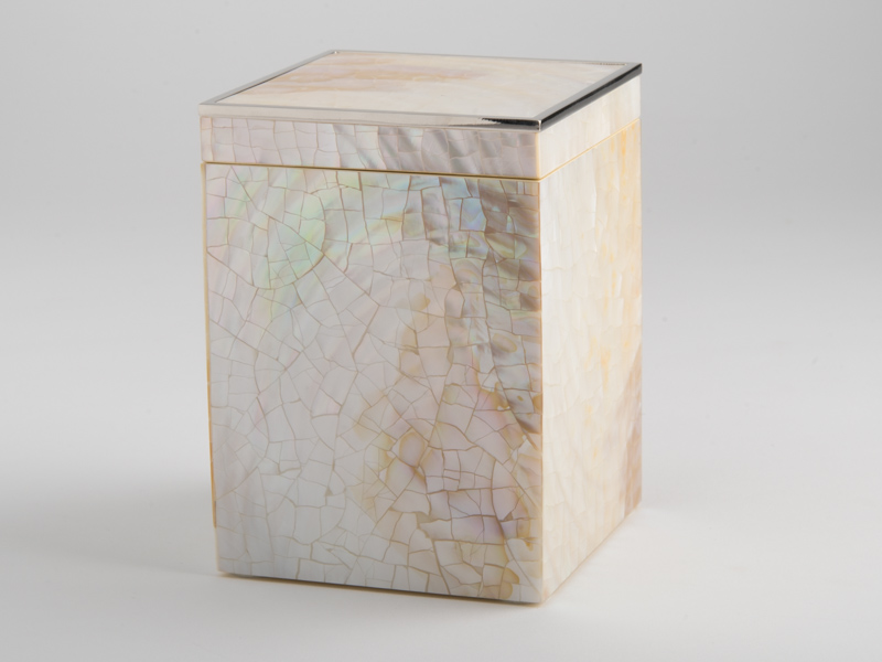 Sienna Tall Square Box - Cream