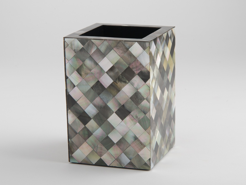 Florence Tooth Brush Holder - Black Mother of Pearl