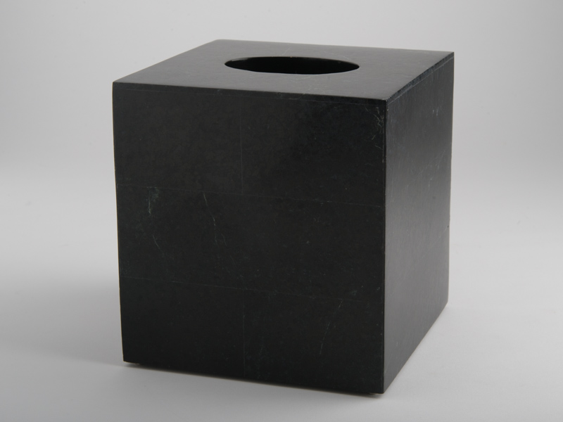 Amalfi Square Tissue Box - Black Marble
