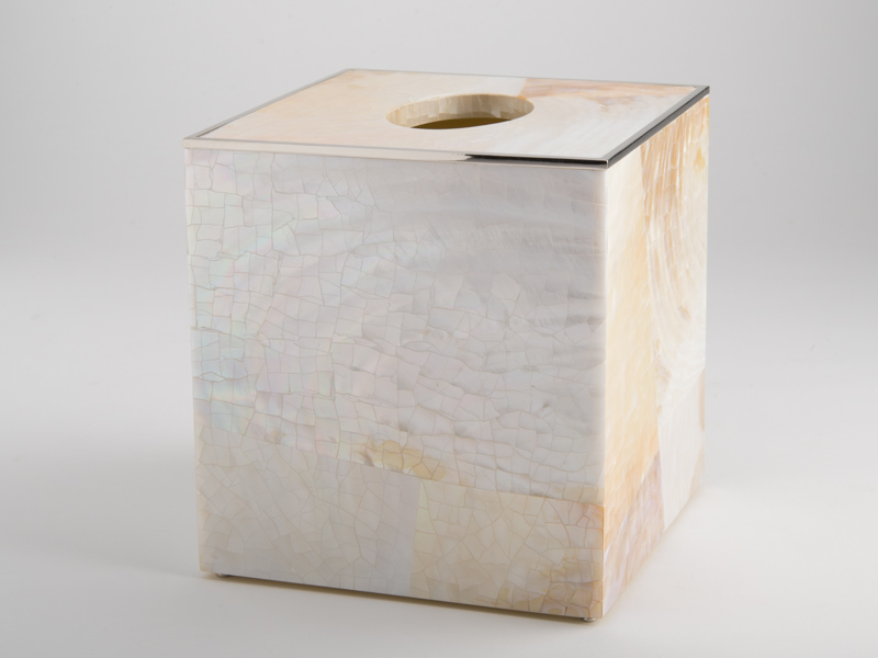 Sienna Square Tissue Box - Cream