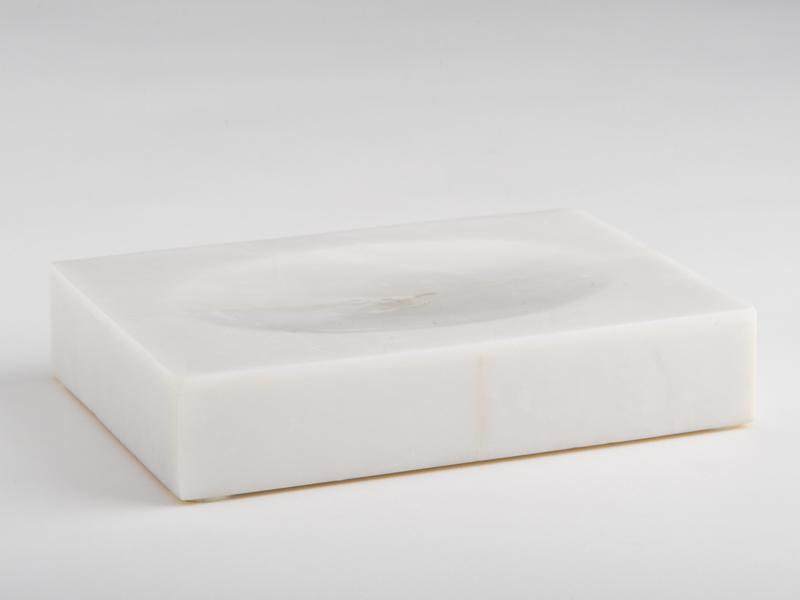 Amalfi Soap Dish - White Marble