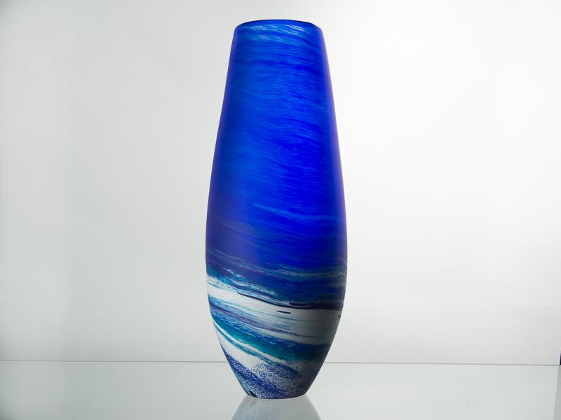 Porthleven Tear Gl Vase Cobalt