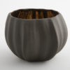 Legume Porcelain Bowl Candle Holder  Espresso Copper