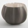 Legume Porcelain Bowl Candle Holder  Grey Pearl