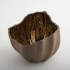 Legume Slice Porcelain Candle Holder - Cappuccino Copper