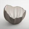 Legume Slice Porcelain Candle Holder Grey Pearl