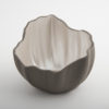 Legume Slice Porcelain Candle Holder Grey Pearl