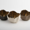 Legume Slice Porcelain Candle Holder - Cream Copper