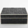Zelda Small Box - Black Shagreen