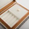 Zelda Small Jewellery Box - Grey Shagreen