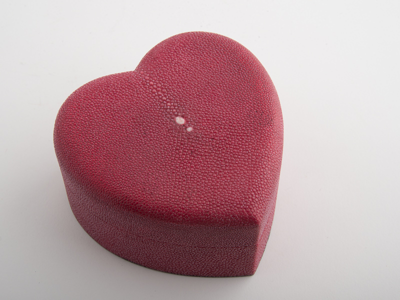 Heart Box - Shagreen - Red