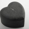 Heart Box - Shagreen - Black