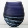 Porthleven Round Glass Vase Indigo