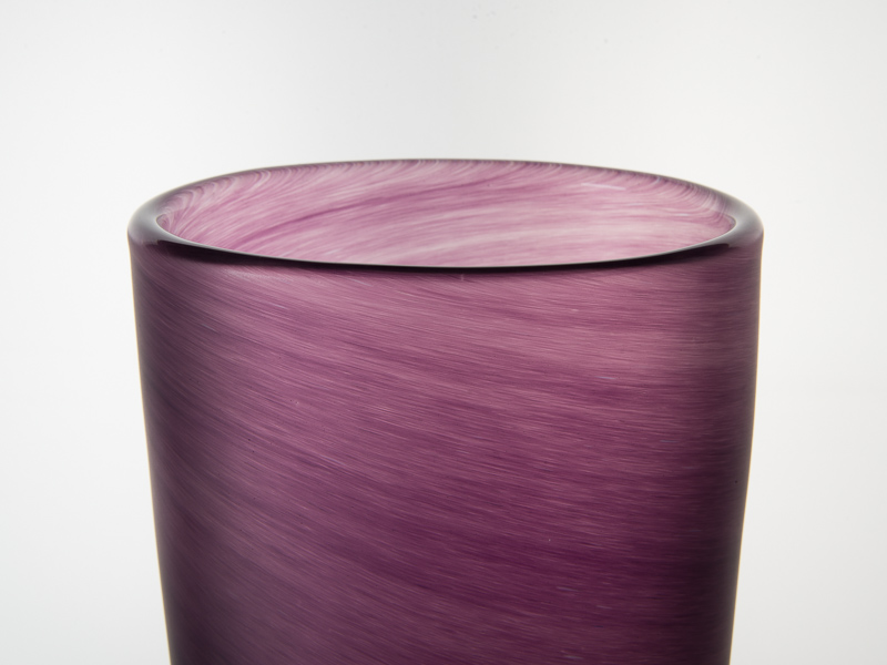 Porthleven Tall Gl Vase Aubergine - Objet Luxe on