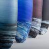 Porthleven Tall Glass Vase Indigo