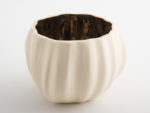 Legume Porcelain Bowl Candle Holder - Cream Copper