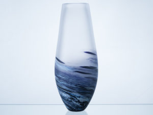 Polperro Tear Glass Vase Indigo