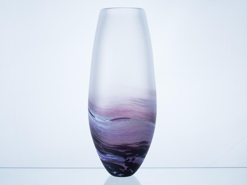 Polperro Tear Glass Vase Aubergine