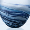 Polperro Round Glass Vase Navy