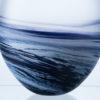 Polperro Round Glass Vase Indigo
