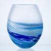 Polperro Round Glass Vase Cobalt