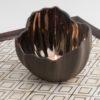 Legume Slice Porcelain Candle Holder  - Espresso Copper