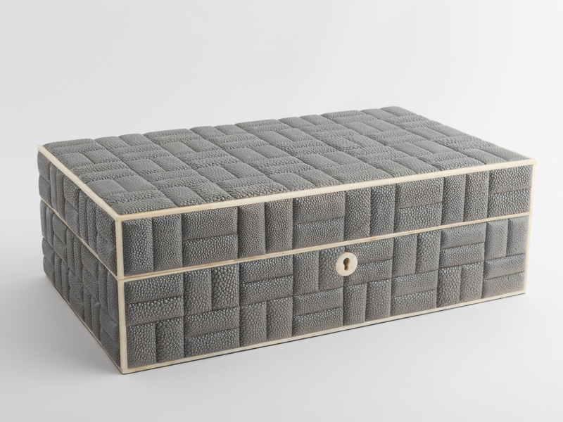Zelda Large Box - Grey Shagreen